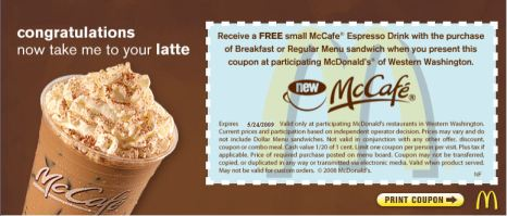 coupon Mc Café